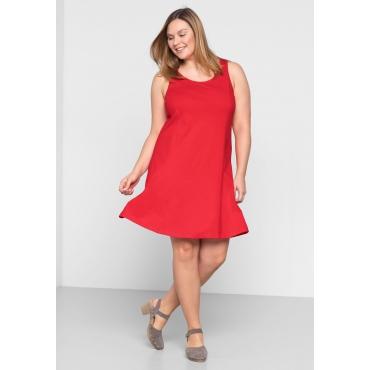 BASIC Kleid mit breiten Trägern, mohnrot, Gr.44-58
