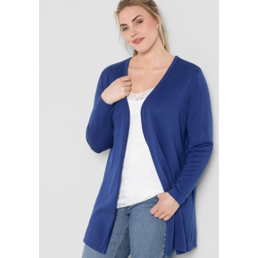 BASIC Longcardigan in verschlussloser Form, royalblau, Gr.44/46-56/58