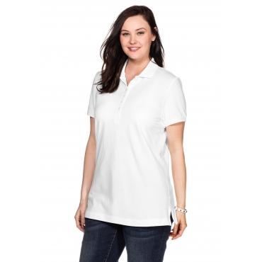 BASIC Poloshirt mit kurzem Arm und Polokragen, weiß, Gr.40/42-56/58
