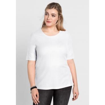 BASIC-Shirt mit Halbarm, weiß, Gr.40/42-56/58