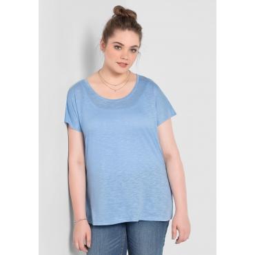 BASIC Shirt mit überschnittener Schulter, pastellblau, Gr.40/42-56/58