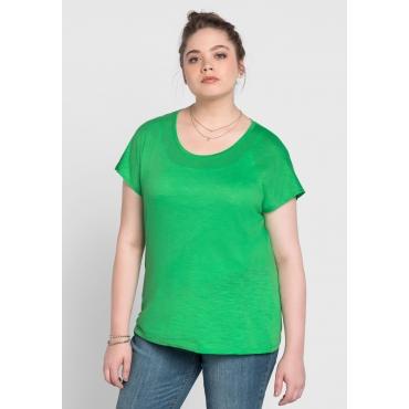 BASIC Shirt mit überschnittener Schulter, powergrün, Gr.40/42-56/58