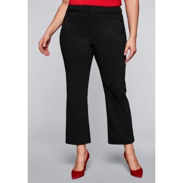 Bengalin-Stretch-Hose mit hohem Bund, schwarz, Gr.44-58