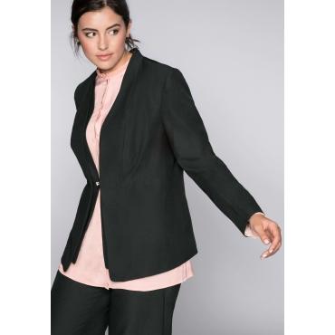 Blazer in knitterfreier Qualität, schwarz, Gr.44-58