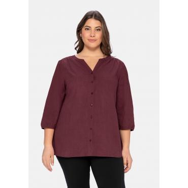 Bluse aus Popelin -Qualität, in leichter A-Linie, weinrot, Gr.40-58