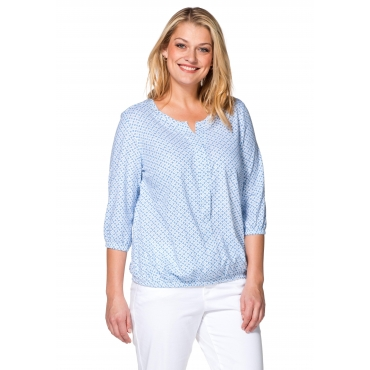 Blusenshirt mit Minimal-Print, bleu, Gr.40/42-56/58