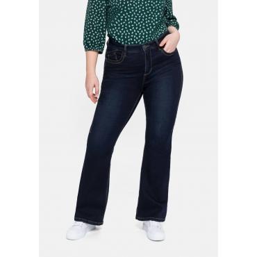 Bootcut Jeans mit REPREVE® Polyesterfasern, blue black Denim, Gr.40-58