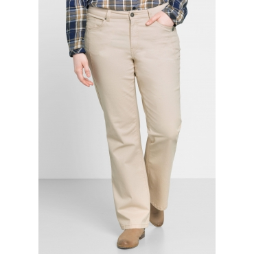 Bootcut-Stretch-Hose in 5-Pocket-Form, beigefarben, Gr.44-58