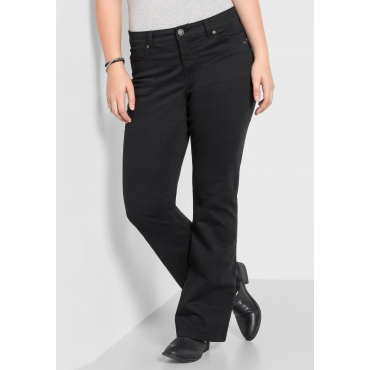 Bootcut-Stretch-Hose in 5-Pocket-Form, schwarz, Gr.40-58