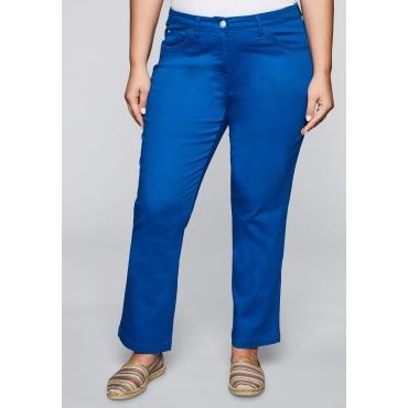 Bootcut-Stretch-Hose mit Stickerei an den Taschen, royalblau, Gr.44-58