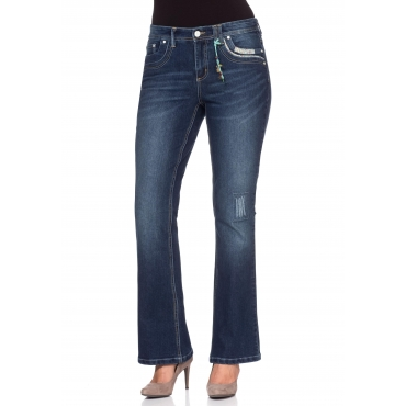 Bootcut Stretch-Jeans, dark blue Denim, Gr.40-58