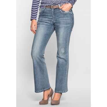 Bootcut-Stretch-Jeans im femininen Look, light blue Denim, Gr.40-58