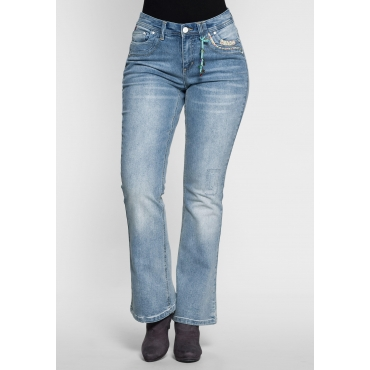 Bootcut Stretch-Jeans, light blue Denim, Gr.21-88