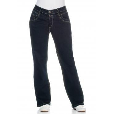 Bootcut-Stretch-Jeans MAILA, blue black Denim, Gr.21-104