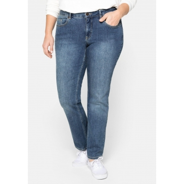 Bootcut-Stretch-Jeans MAILA, blue Denim, Gr.22-104
