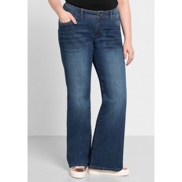 Bootcut-Stretch-Jeans MAILA, blue Denim, Gr.40-58