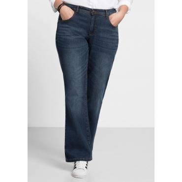 Bootcut-Stretch-Jeans MAILA, dark blue Denim, Gr.20-116