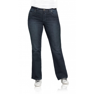 Bootcut-Stretch-Jeans MAILA, dark blue Denim, Gr.20-116