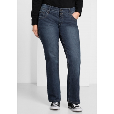 Bootcut-Stretch-Jeans MAILA, dark blue Denim, Gr.21-104