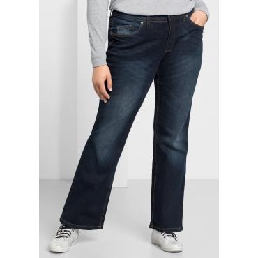 Bootcut-Stretch-Jeans MAILA, dark blue Denim, Gr.21-104