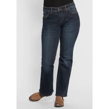 Bootcut-Stretch-Jeans MAILA, dark blue Denim, Gr.40-104