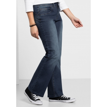 Bootcut-Stretch-Jeans MAILA, dark blue Denim, Gr.40-104