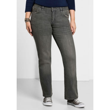 Bootcut-Stretch-Jeans MAILA, grey Denim, Gr.21-116