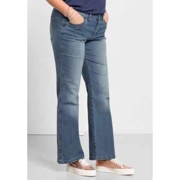 Bootcut-Stretch-Jeans MAILA, light blue Denim, Gr.20-116