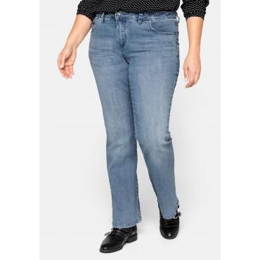 Bootcut-Stretch-Jeans MAILA, light blue Denim, Gr.20-116