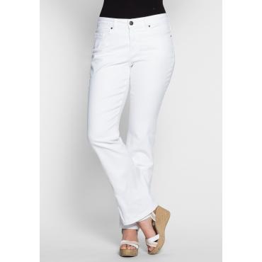 Bootcut-Stretch-Jeans MAILA, white Denim, Gr.20-116