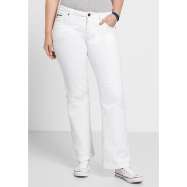Bootcut-Stretch-Jeans MAILA, white Denim, Gr.21-116
