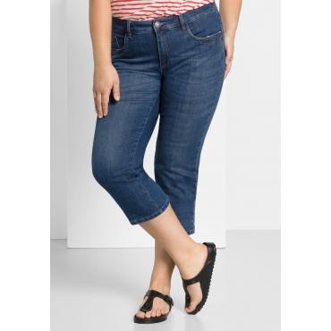 Capri-Jeans mit bedrucktem Umschlag, blue Denim, Gr.44-58