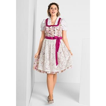 Dirndl mit Schürze und Bluse 3tlg., pink, Gr.40-58