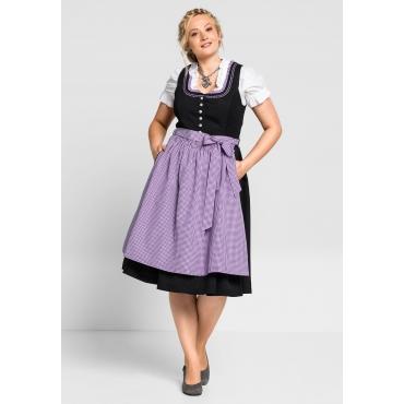 Dirndl mit Schürze und Bluse 3tlg., schwarz-lila, Gr.40-58