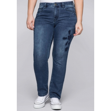Gerade Stretch-Jeans in Sweat-Qualität, blue Denim, Gr.44-58
