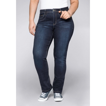 Gerade Stretch-Jeans in ultraflexibler Qualität, dark blue Denim, Gr.22-104