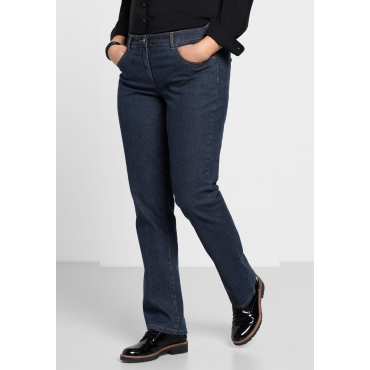 Gerade Stretch-Jeans LANA in 5-Pocket-Form, dark blue Denim, Gr.21-104