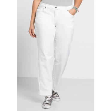 Gerade Stretch-Jeans LANA in 5-Pocket-Form, white Denim, Gr.21-104