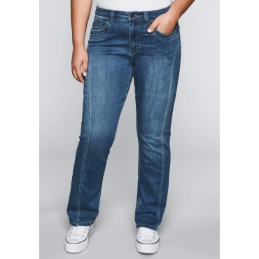 Gerade Stretch-Jeans LANA mit Lyocell, blue Denim, Gr.44-58