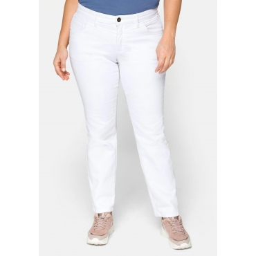 Gerade Stretch-Jeans LANA mit Used-Effekten, white Denim, Gr.21-116
