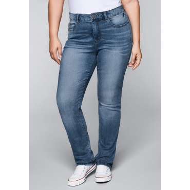 Gerade Stretch-Jeans mit Bodyforming-Effekt, blue Denim, Gr.22-104