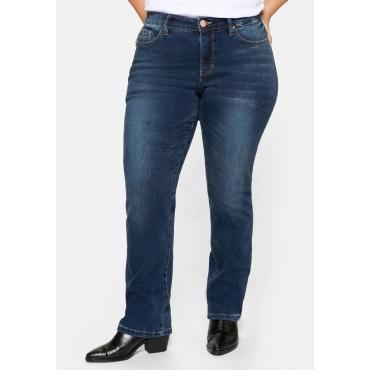 Gerade Stretch-Jeans mit Bodyforming-Effekt, dark blue Denim, Gr.20-104