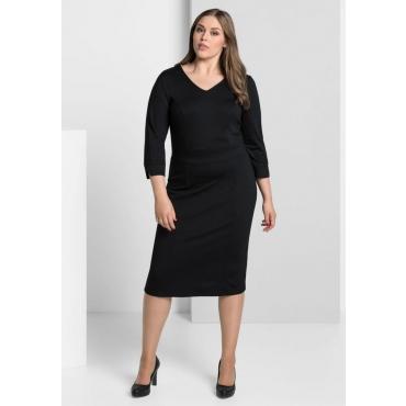 Große Größen: Jerseykleid mit Bodyforming-Innenkleid, schwarz, Gr.40-58