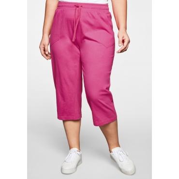 3/4-Hose Basic mit Schlupfbund; aus Jersey, pink, Gr.44-58