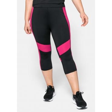 3/4-Leggings aus Funktionsmaterial, schwarz-pink, Gr.44-58