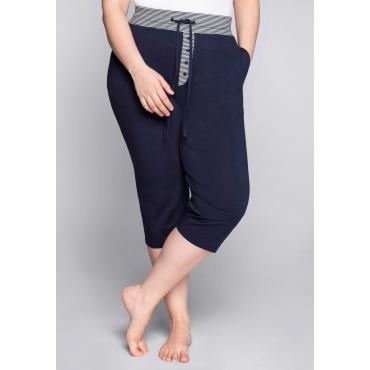 Große Größen: 3/4-Schlafanzughose mit Zierknopfleiste, marine, Gr.44-58