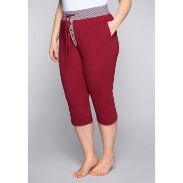 Große Größen: 3/4-Schlafanzughose mit Zierknopfleiste, rubinrot, Gr.44-58