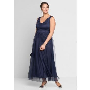 Große Größen: Abendkleid, marine, Gr.44-58