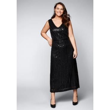 Große Größen: Abendkleid mit Pailletten, schwarz, Gr.44-58