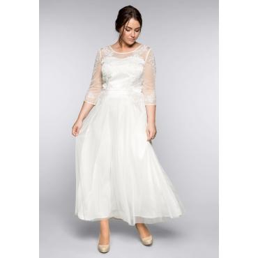 Große Größen: Abendkleid mit Spitzenapplikationen, offwhite, Gr.44-58